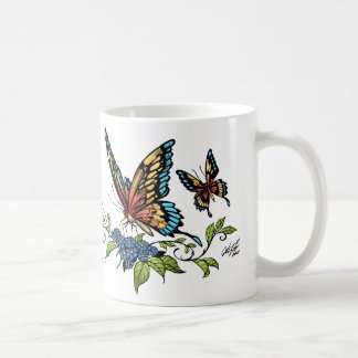 Butterfly and Butterflies full color by Al Rio Coffee Mug