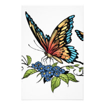 butterfly, butterflies, flowers, al rio, nature, animals, Flyer with custom graphic design