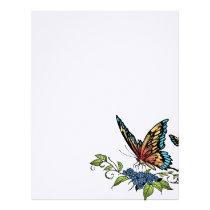 butterfly, butterflies, flowers, al rio, nature, animals, Papel de cartas com design gráfico personalizado