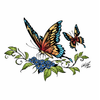 Butterfly and Butterflies full color by Al Rio Statuette