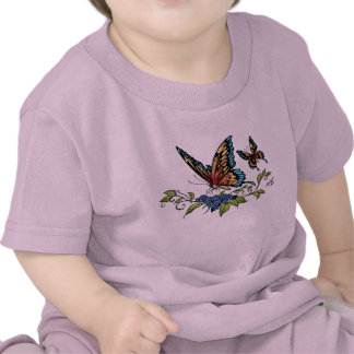 Butterfly and Butterflies full color by Al Rio Tee Shirt