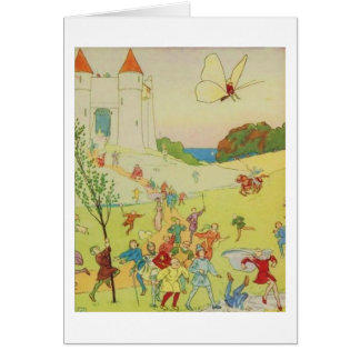 Butterfly and Castle Vintage Children's litrature Card