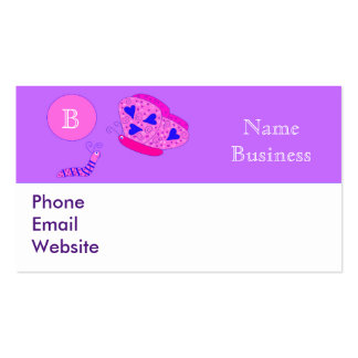 Butterfly and Caterpillar Business Cards
