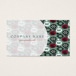 Butterfly and Cherry Fruits Icecream Pattern Business Card