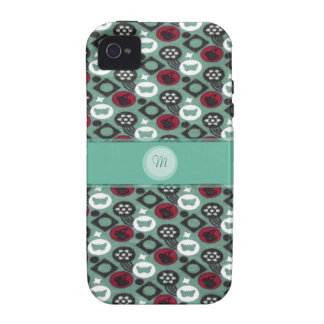 Butterfly and Cherry Fruits Icecream Pattern Vibe iPhone 4 Case