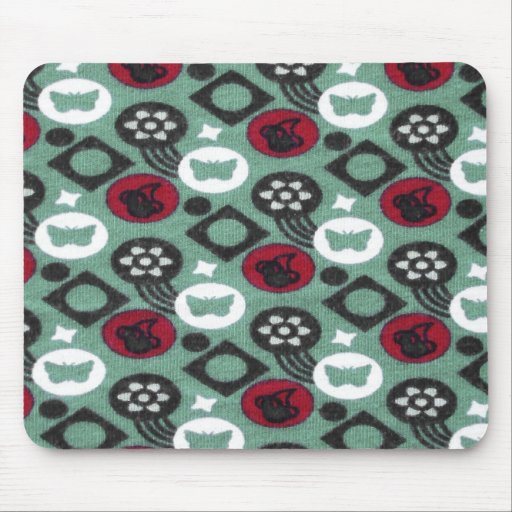 Butterfly and Cherry Fruits Icecream Pattern Mouse Pads