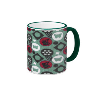 Butterfly and Cherry Fruits Icecream Pattern Ringer Mug