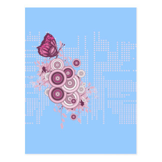 Butterfly-and-Circles Postcard