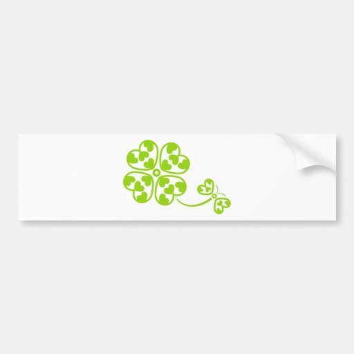 Butterfly_and_Clover Bumper Stickers