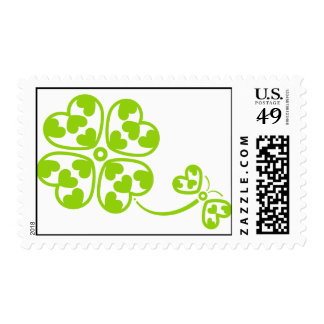 Butterfly_and_Clover Postage Stamp