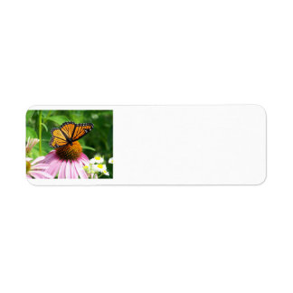 Butterfly and Cone Flower Label
