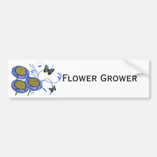 Butterfly and Daisies Car Bumper Sticker