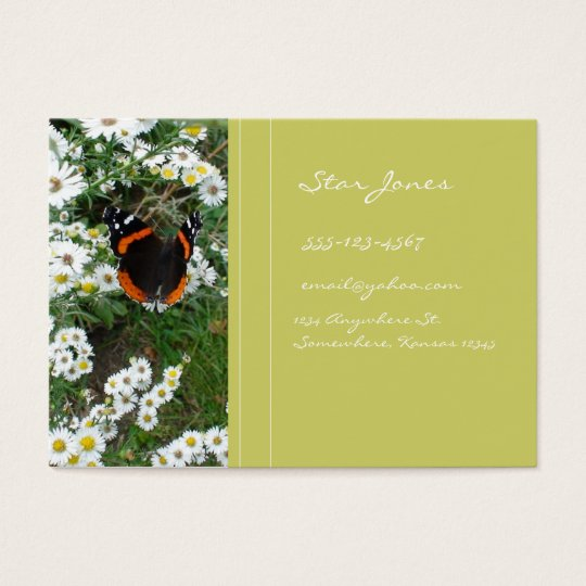 BUTTERFLY AND DAISY BUSINESS CARD