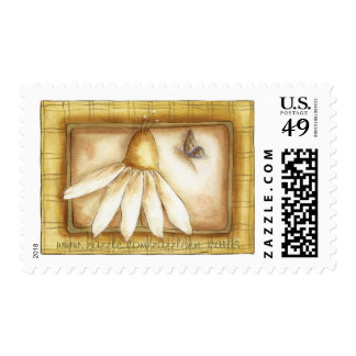 Butterfly and Daisy Postage