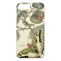 Butterfly and Dragonfly with Red Flowers iPhone 8 Plus/7 Plus Case