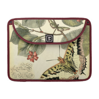 Butterfly and Dragonfly with Red Flowers MacBook Pro Sleeves