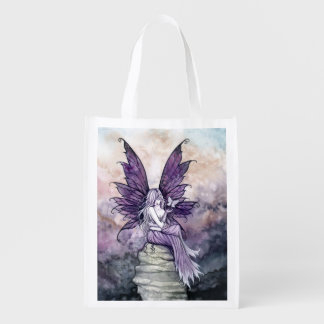 Butterfly and Fairy Fantasy Art Shopping Bag Grocery Bag