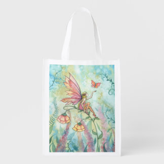 Butterfly and Fairy Fantasy Art Shopping Bag Market Totes