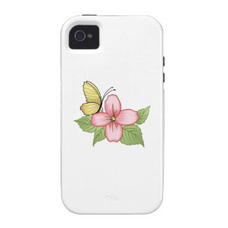 BUTTERFLY AND FLOWER CASE FOR THE iPhone 4