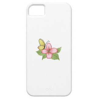 BUTTERFLY AND FLOWER iPhone 5 CASE