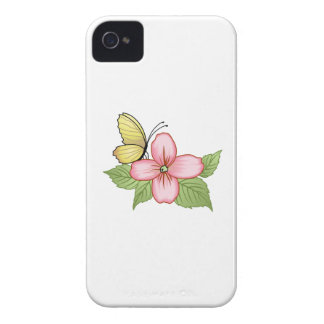 BUTTERFLY AND FLOWER iPhone 4 CASE
