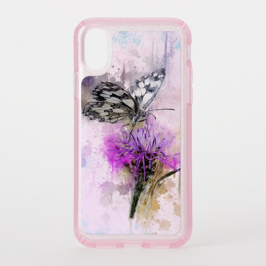 finest selection b831b 64281 Butterfly and Flower Speck iPhone Case