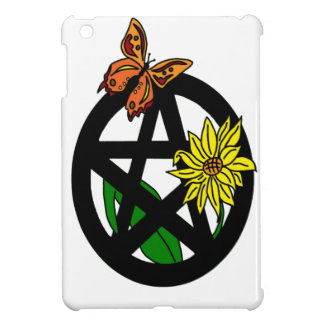 Butterfly And Flower With Pentacle iPad Mini Cover
