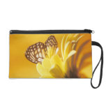 Butterfly and Flower Wristlet