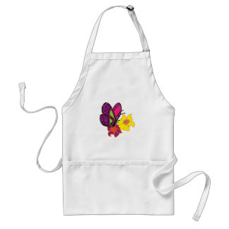 Butterfly And Flowers Aprons