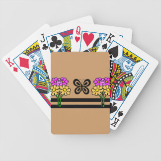 Butterfly and Flowers Bicycle Playing Cards