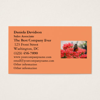 Butterfly and Flowers Business Card