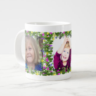 Butterfly and Flowers Frames for Three Giant Coffee Mug