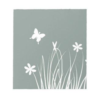 Butterfly and flowers meadow memo notepads