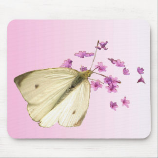 Butterfly and Flowers Mousepads