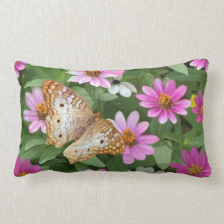 Butterfly and Flowers Pillow