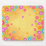 Butterfly and flowers summer mouse pad