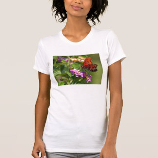 Butterfly and Flowers T-Shirt