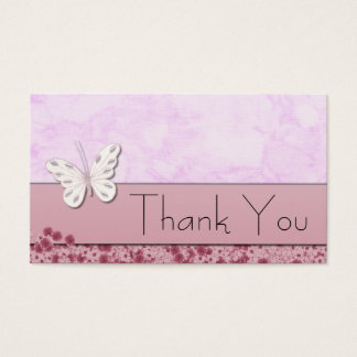 Butterfly and flowers Thank You Business Card