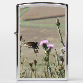 Butterfly and Flowers Zippo Lighter