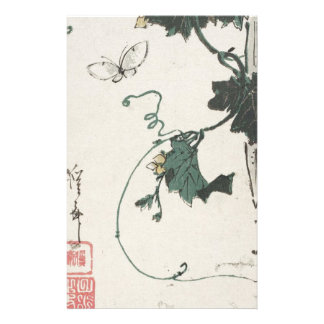 Butterfly and Gourd by Keisai Eisen Stationery