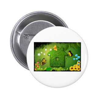 butterfly and green house button