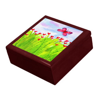 Butterfly and Hearts Gift Box