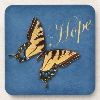 Butterfly and Hope Cork Coaster Set (6)