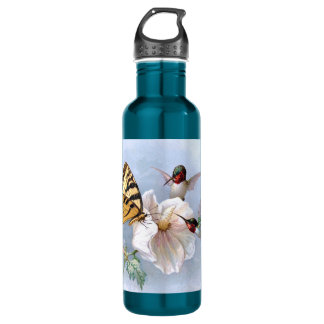 Butterfly and Hummingbirds Water Bottle