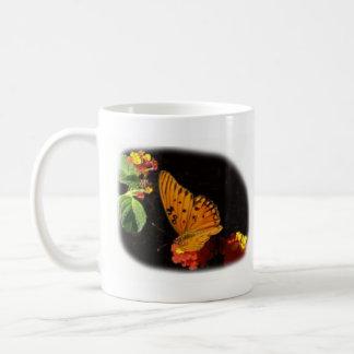 butterfly and lantana coffee mug