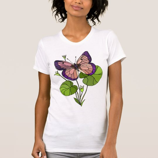 Butterfly and Leaves Tees for Women
