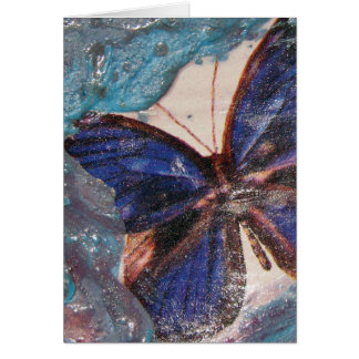 Butterfly and Melted Crayon Collage Card