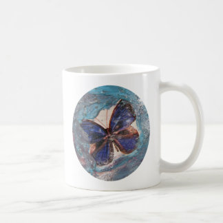 Butterfly and Melted Crayon Collage Coffee Mug