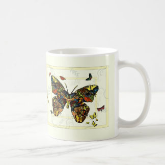 Butterfly and Moth Collage Mug