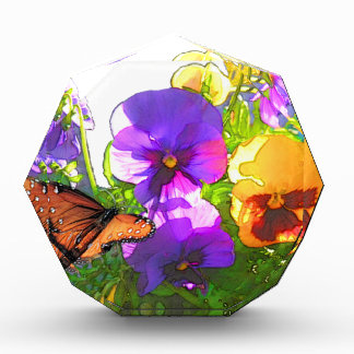 BUTTERFLY AND PANSIES AWARD